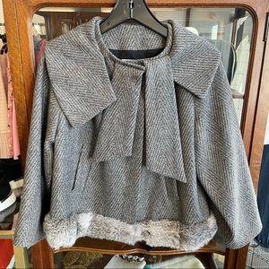 Christian Dior Boutique Paris Jacket Fur Trim